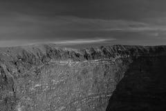 Cráter de Vesuvio fotos de archivo