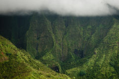 Cráter de Waialeale del montaje, Kauai Foto de archivo libre de regalías