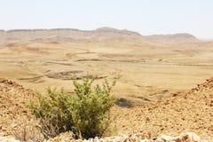 Cráter del desierto del Néguev y de Ramón Fotos de archivo