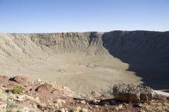 Cráter del meteorito Imagen de archivo libre de regalías