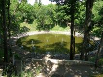 Cráter del meteorito Foto de archivo