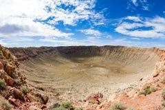 Cráter del meteorito, Arizona Fotografía de archivo