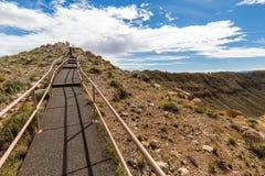 Cráter del meteorito, Arizona Fotos de archivo libres de regalías