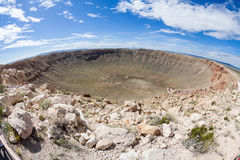 Cráter del meteorito, Arizona Imagen de archivo libre de regalías
