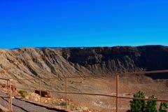 Cráter del meteorito cerca de Winslow Arizona Foto de archivo