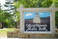 Cráter del parque de estado de los diamantes Fotos de archivo libres de regalías