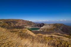Cráter del soporte de Okama Foto de archivo