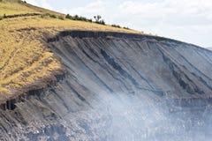 Cráter del volcán Foto de archivo libre de regalías