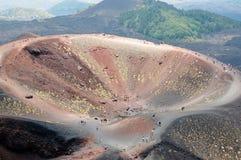 Cráter del volcán Fotografía de archivo