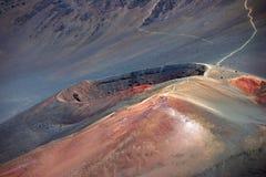 Cráter del volcán de Haleakala Imagenes de archivo