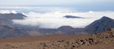 Cráter del volcán de Haleakala Imagen de archivo libre de regalías