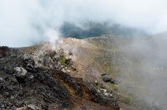 Cráter del volcán Yzalco, El Salvador Foto de archivo