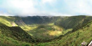 Cráter Faial - Azores de Caldeira Fotografía de archivo