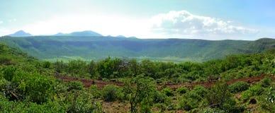 Cráter misterioso del origen entre Moyale y Marsabitom. África, Foto de archivo