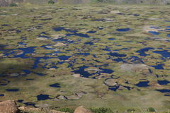 Cráter Rano Kau de la isla de pascua Fotografía de archivo libre de regalías