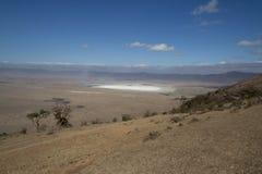Cráter Salt Lake Tanzania de Ngorongoro Foto de archivo libre de regalías