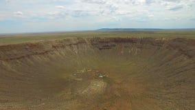Cráter video aéreo del meteorito almacen de video