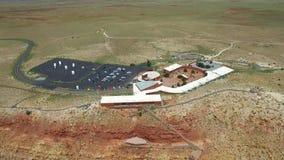Cráter video aéreo 3 del meteorito almacen de metraje de vídeo