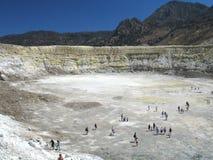 Cráter volcánico Foto de archivo