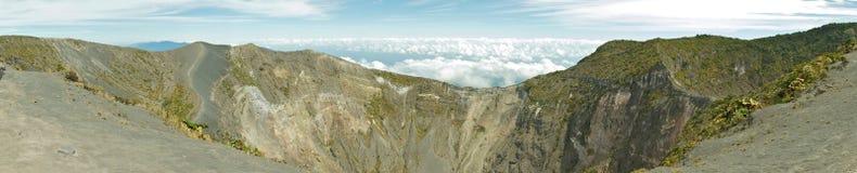 Cráter volcánico fotos de archivo