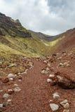 Cráter volcánico rojo, tarawera del soporte, Nueva Zelanda 5 foto de archivo libre de regalías