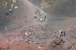 Cráteres de Silvestri Imagenes de archivo