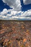 Cráteres del paisaje volcánico de la luna Imagenes de archivo