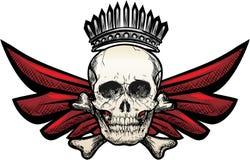 Crâne à ailes Photographie stock libre de droits