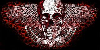 Crâne à ailes illustration libre de droits