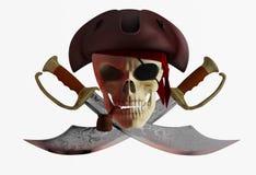 Crâne 2 de pirate Photographie stock