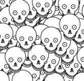 Crâne 4 de dessin animé Photos stock