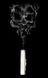 Crâne abstrait de fumée photographie stock