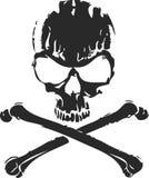 Crâne abstrait et os en travers Image stock
