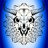 Crâne animal avec des klaxons Image libre de droits