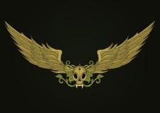 Crâne avec des ailes Photos stock