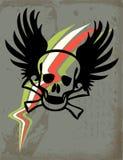 Crâne avec des ailes   Image stock