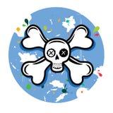 Crâne avec des os Photo libre de droits