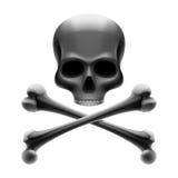 Crâne avec des os. Roger gai. Vecteur. illustration libre de droits
