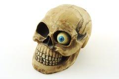 Crâne avec l'oeil Photographie stock