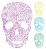 Crâne avec l'ornement Photos libres de droits