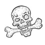 Crâne avec l'os Images libres de droits