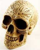 Crâne avec la gravure Images libres de droits