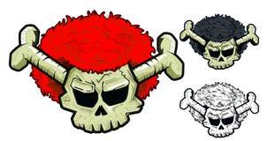 Crâne avec la perruque illustration libre de droits