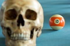 Crâne avec le numéro 13 Images libres de droits