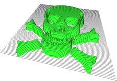 Crâne avec les os en travers, vecteur Photographie stock