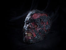 Crâne brûlé images libres de droits