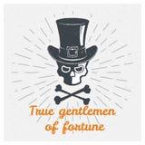 Crâne, chapeau, cylindre, monsieur Citation créative de inspiration de motivation Photos stock