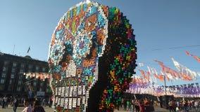 Crâne coloré Image libre de droits