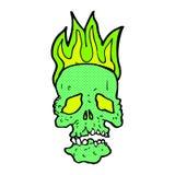 crâne comique de bande dessinée Photographie stock