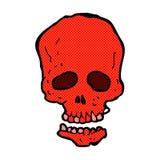 crâne comique de bande dessinée Photos stock
